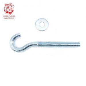 Special-screw-hook-screw-BZP-full-threaded-with-flat-washer-wei-shiun-fasteners